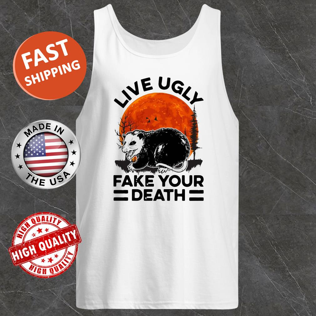 Opossum Live Ugly Fake Your Death Sunset Tank Top