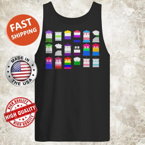 18 BUILDINGS COLD AND HOT COLORS tank top