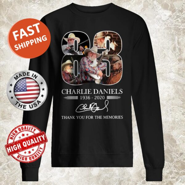 83 Charlie Daniels 1936 2020 Thank You For The Memories Signature Sweater