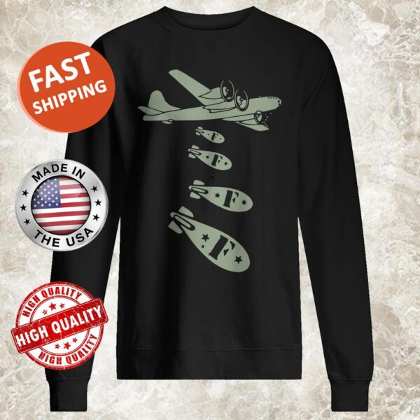 Bomber Dropping Bombs Sweater