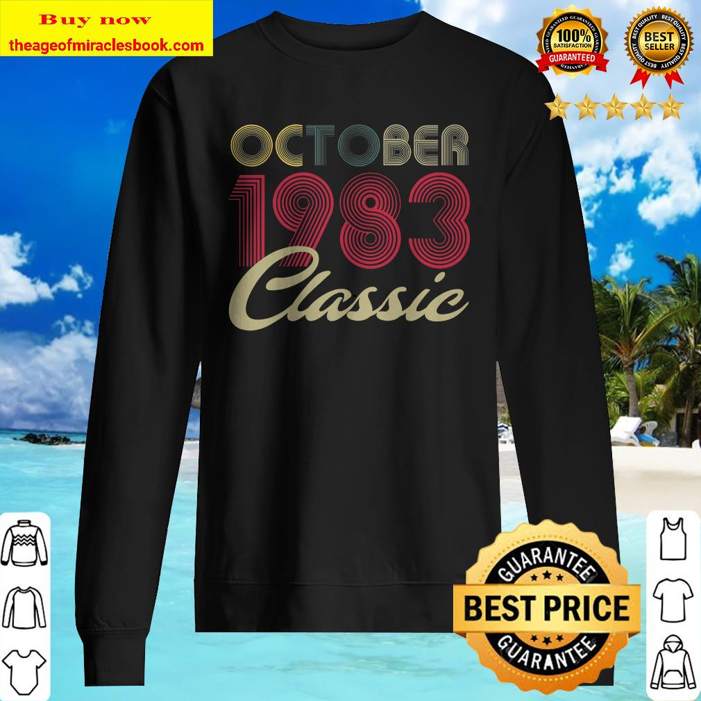 Classic October 1983 Bday Men Women Gifts 37th Birthday Sweater