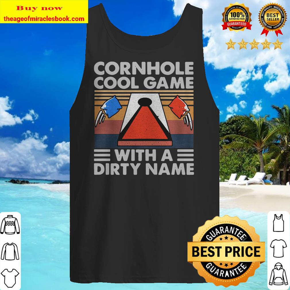 Cornhole Cool Game With A Dirty Name Vintage Retro Tank top