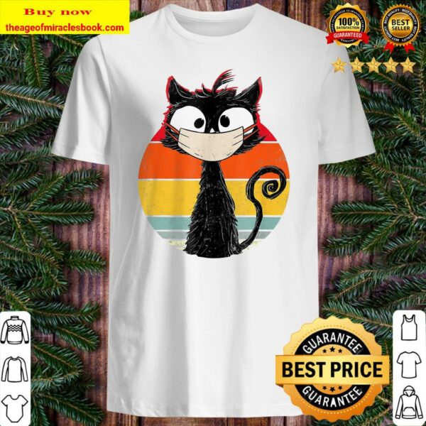 Funny Vintage Cat Black Cat Retro Cat Cat With Mask Shirt