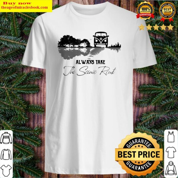 Guitar Bus Always take the scenic route Shirt