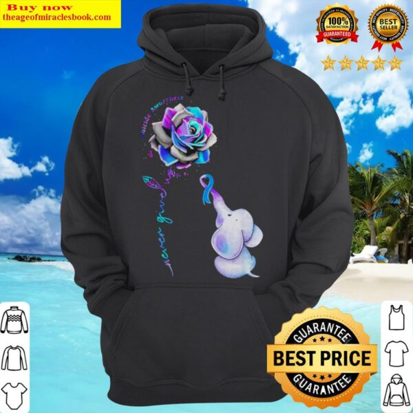 Hot Elephant suicide awareness rose never give up Hoodie