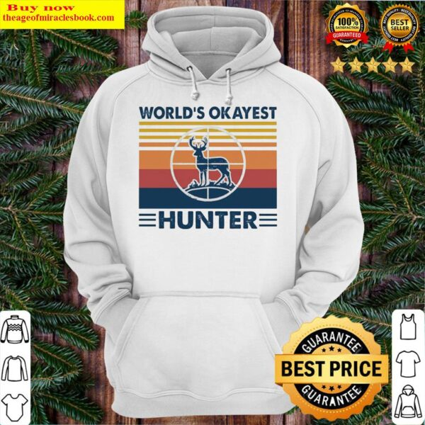 Hunting world's okayest hunter vintage Hoodie