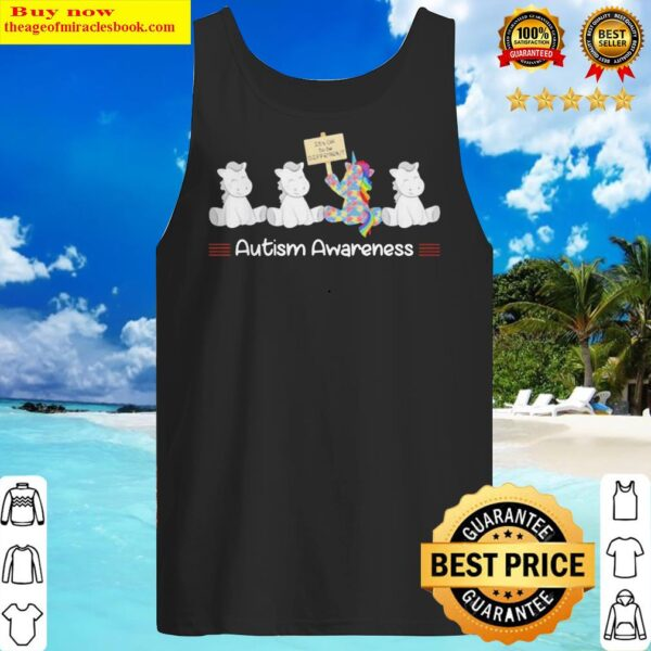 LGBT Unicorn Autism Awareness It's Okay To Be Different Tank Top