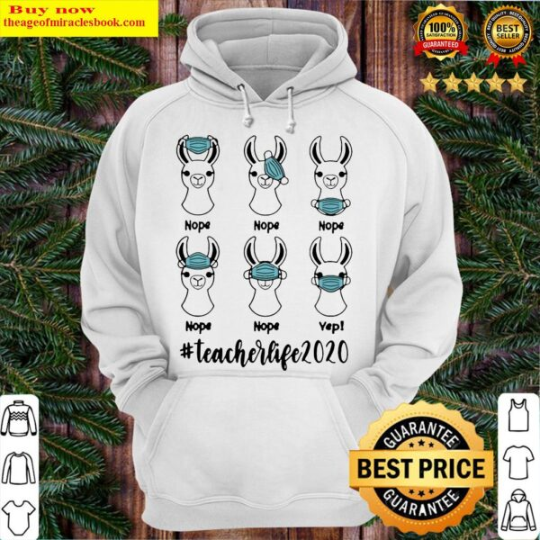 Llama mask nope #teacherlife 2020 Hoodie