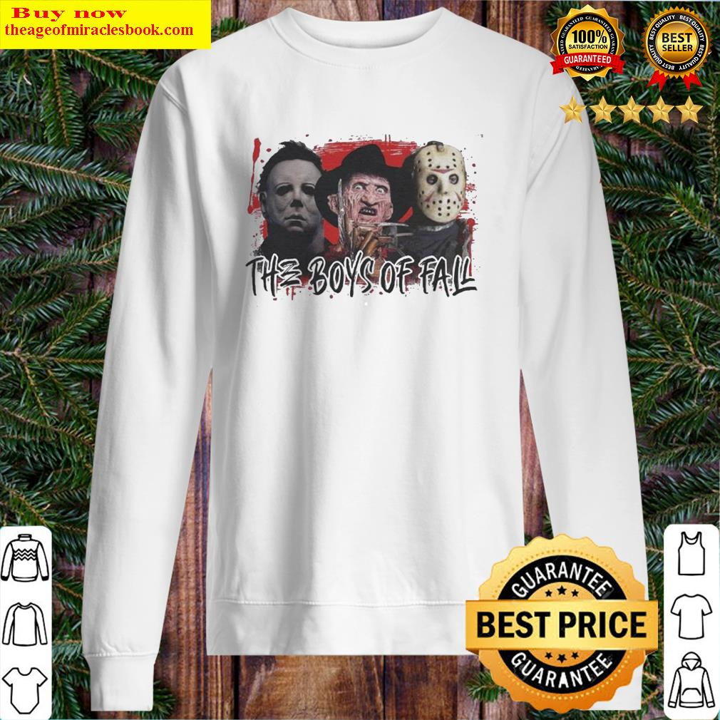 Michael Myers Freddy Krueger and Jason Voorhees the Boys of fall Halloween Sweater