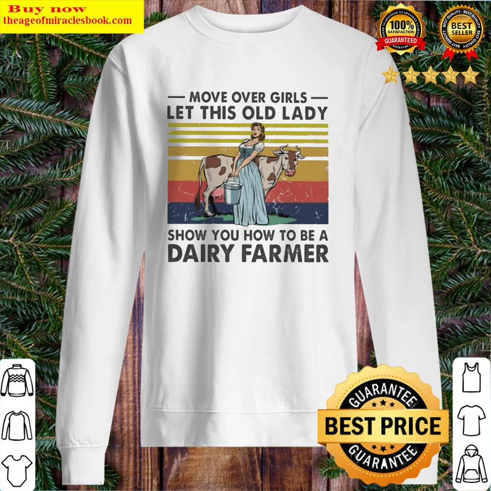 Move over Girls let this old Lady show you how to be a Dairy farmer vintage Sweater