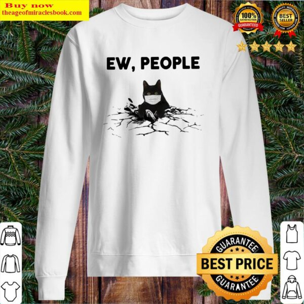 Official Black Cat face mask EW people Sweater