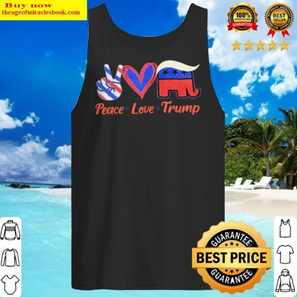 Peace love Trump America Flag Tank Top