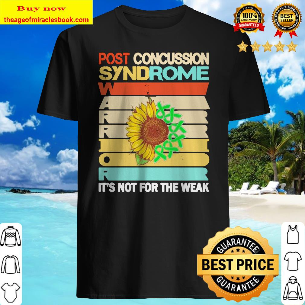 Sunflower post concussion syndrome it's not for the wear vintage Shirt