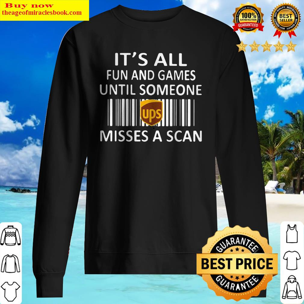 Ups it's all fun and games until someone misses a scan Sweater