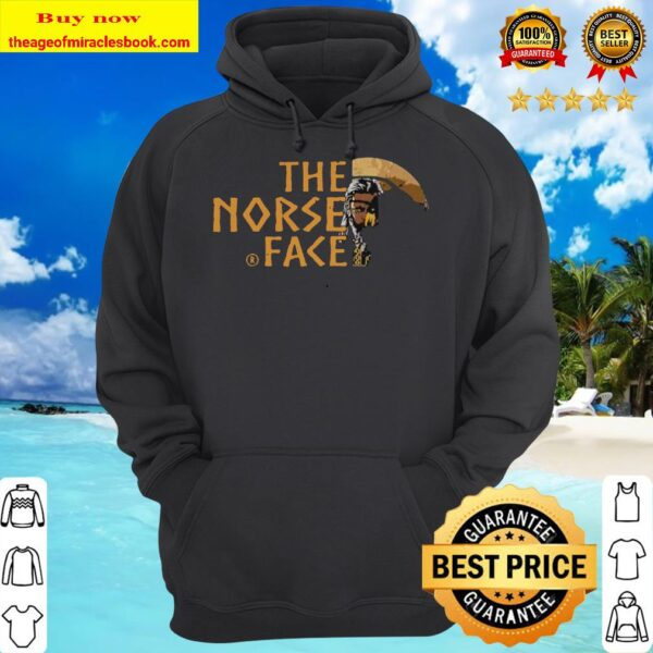 Vikings and raven the norse face logo hoodie