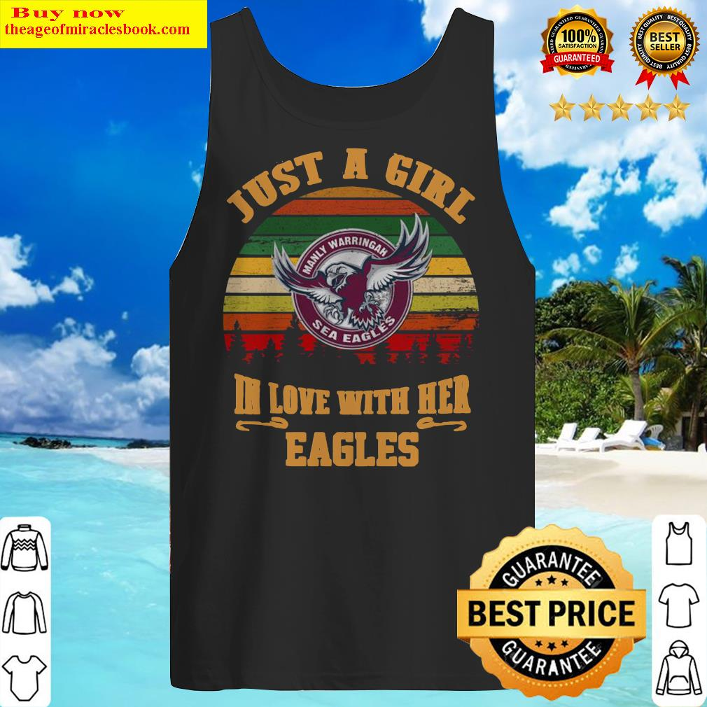 manly-warringah-just-a-girl-in-love-with-her-eagles-vintage-retro Tank Top