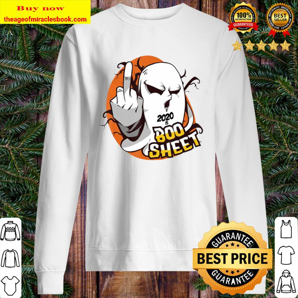 2020 is Boo Sheet Ghost Middle finger Halloween Statement Sweater