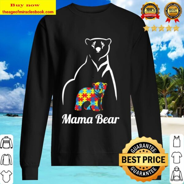 Autism Awareness Mama Bear Pullover Mom Gift Pullover Sweater