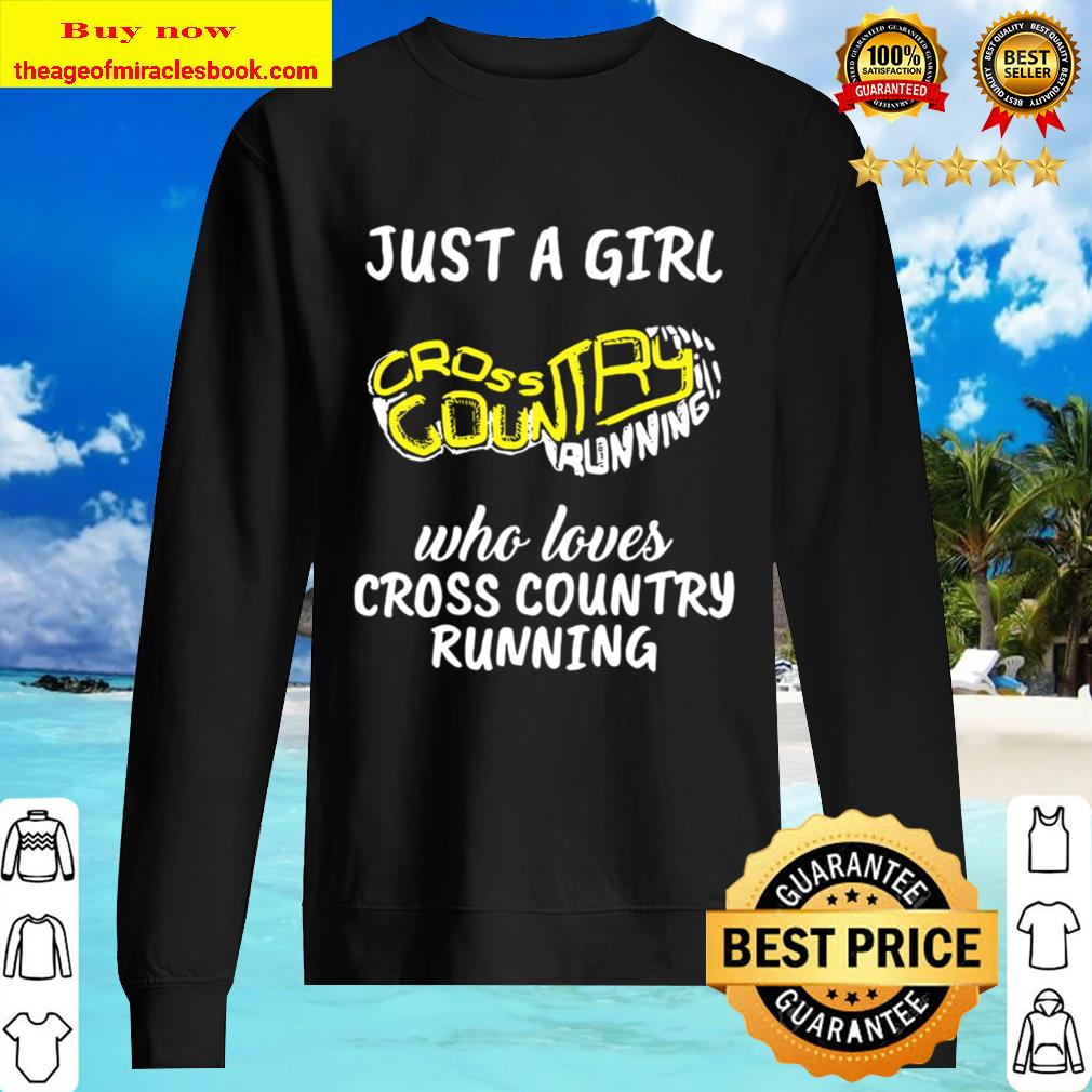Cc Runner Gift Just A Girl Who Loves Cross Country Running Sweater