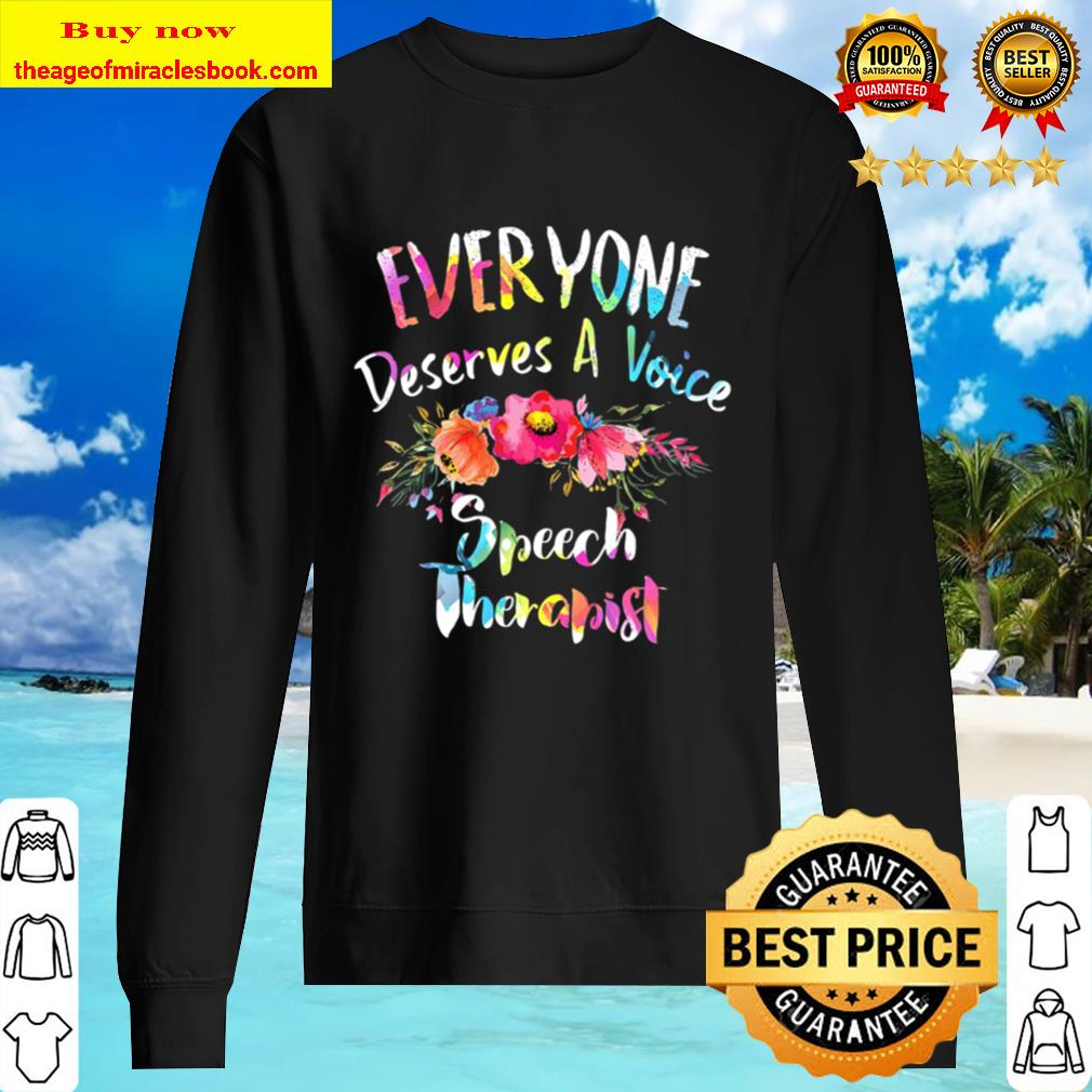 Colorful Speech Therapist Flowers Speech Therapy Sweater