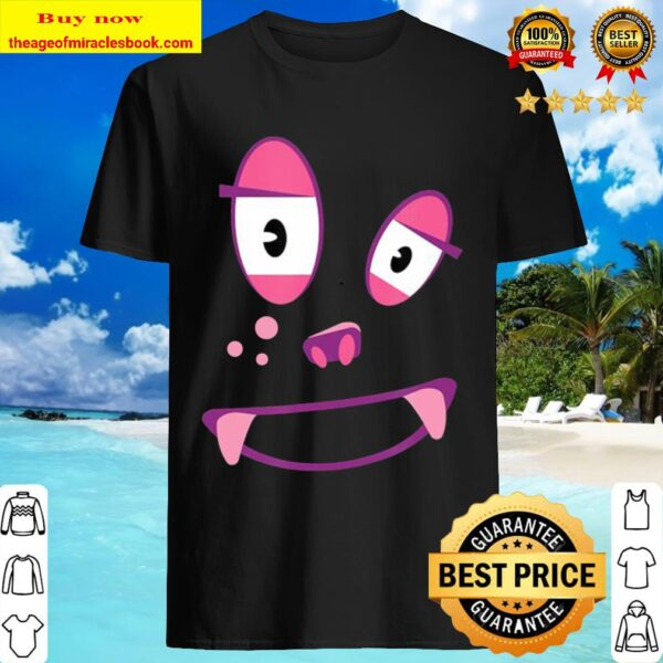 Cute Funny Ghost-Monster Face Costume Halloween Adults Kids Shirt