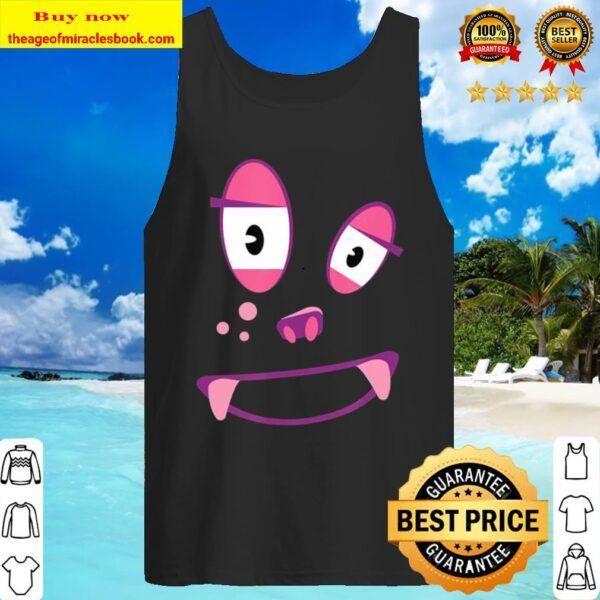 Cute Funny Ghost-Monster Face Costume Halloween Adults Kids Tank Top