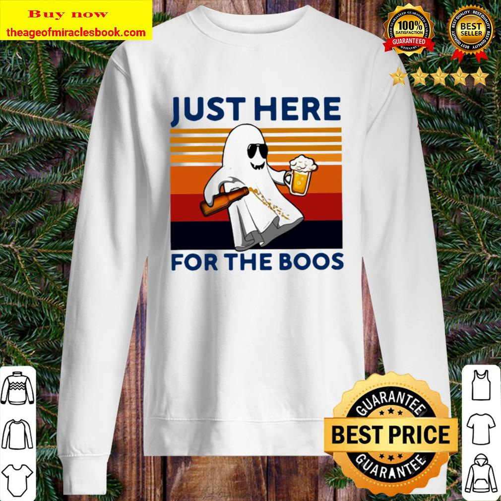 Ghost Beer Just Here For The Boos Vintage Retro Sweater