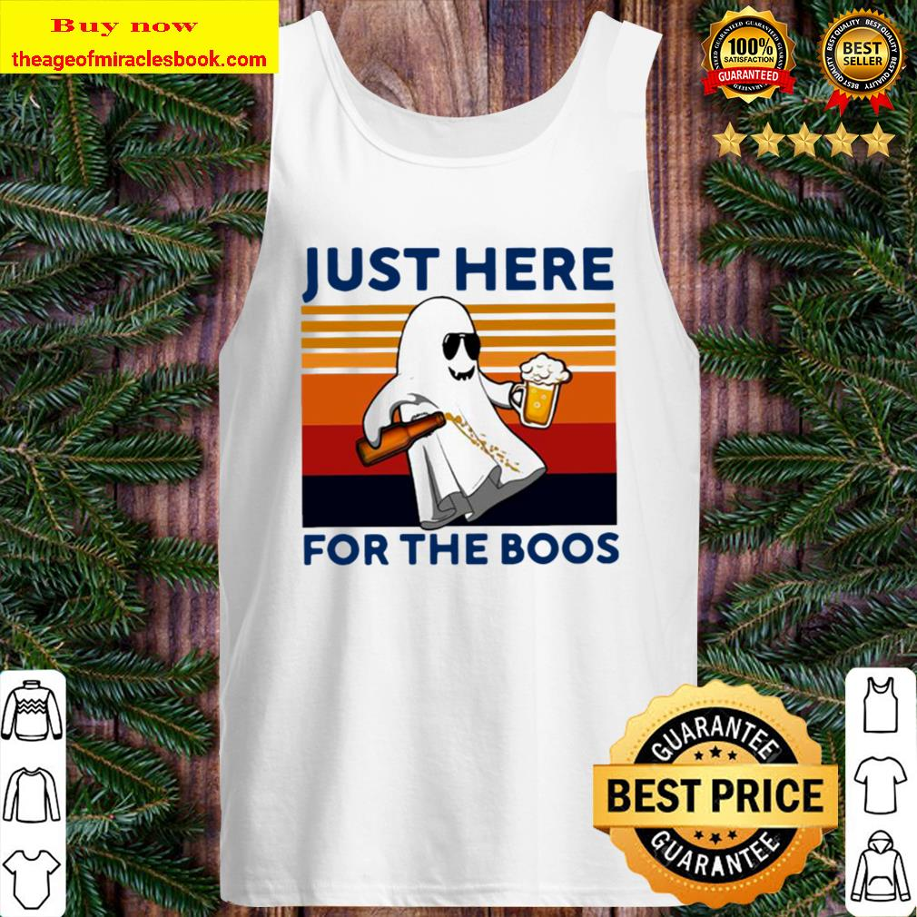 Ghost Beer Just Here For The Boos Vintage Retro Tank Top