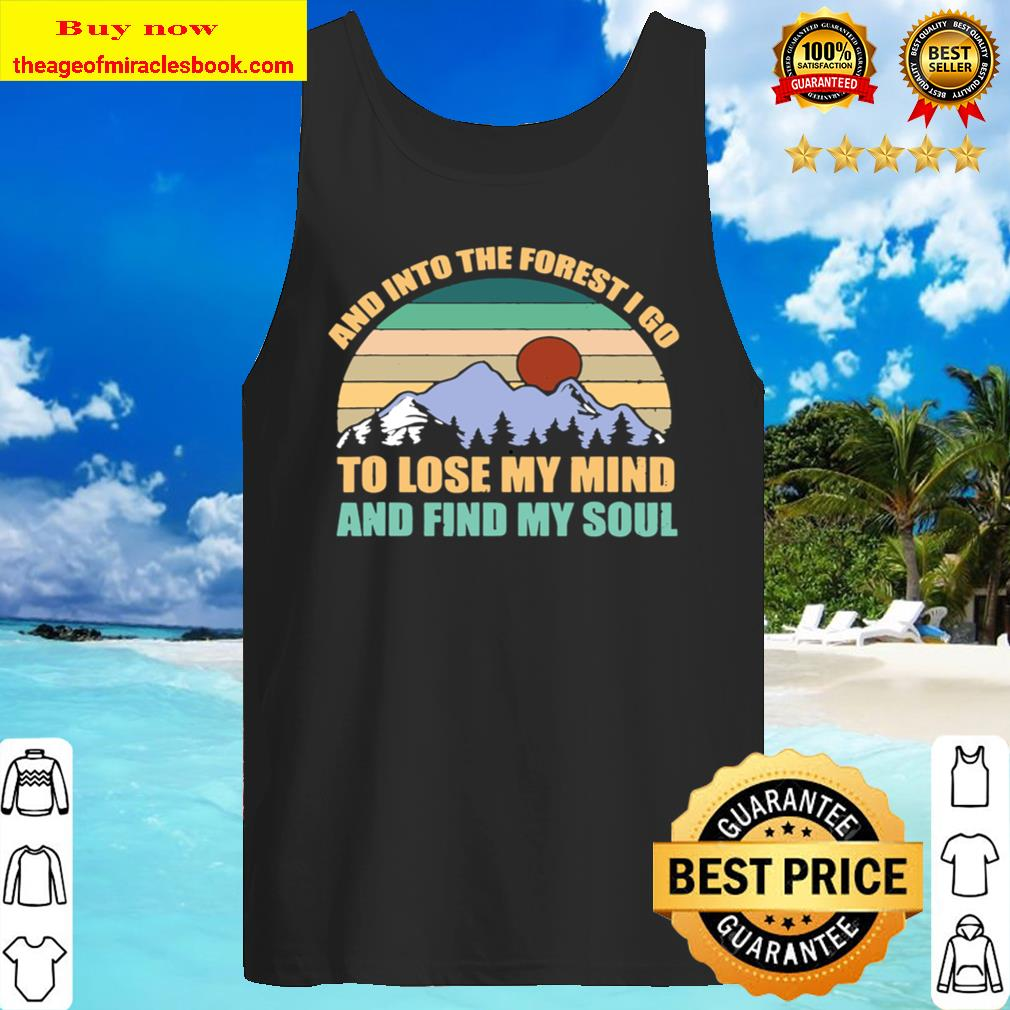 Great Gift Forest Hiking Camping Trekking Snow Mountains Tank Top