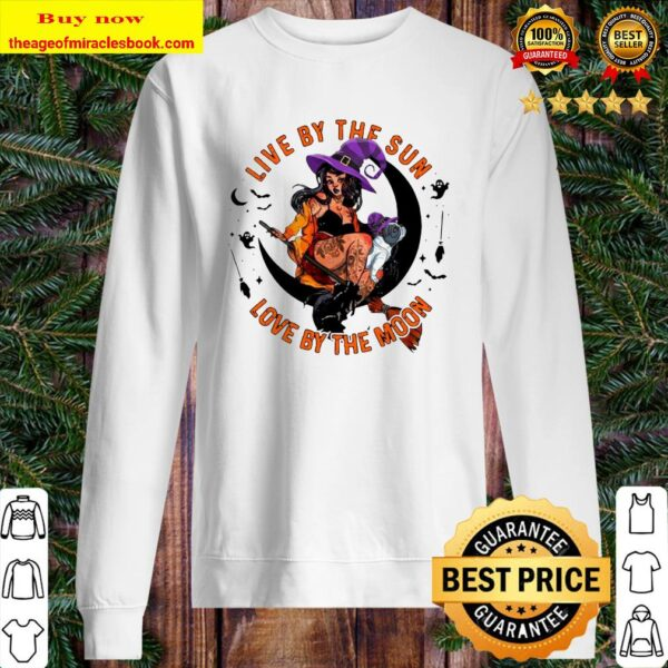 Halloween Witch Tattoo Live By The Sun Love By The Moon Sweater
