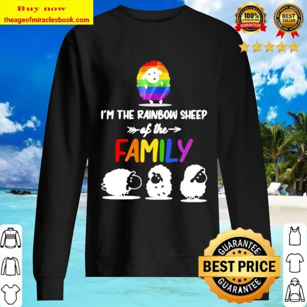 I'm the rainbow sheep of the family lgbt color Sweater