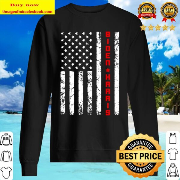 Joe Biden Kamala Harris Vintage USA Flag – Biden Harris 2020 Sweater