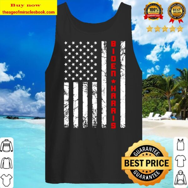 Joe Biden Kamala Harris Vintage USA Flag – Biden Harris 2020 Tank Top