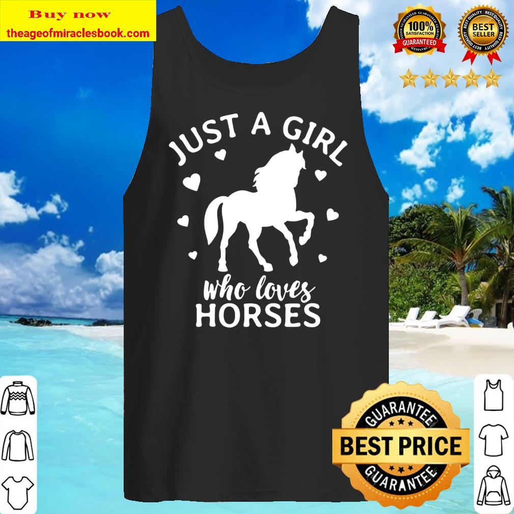 Just A Girl Who Loves Horses Cowgirl Horse Girl Riding Gift Tank Top