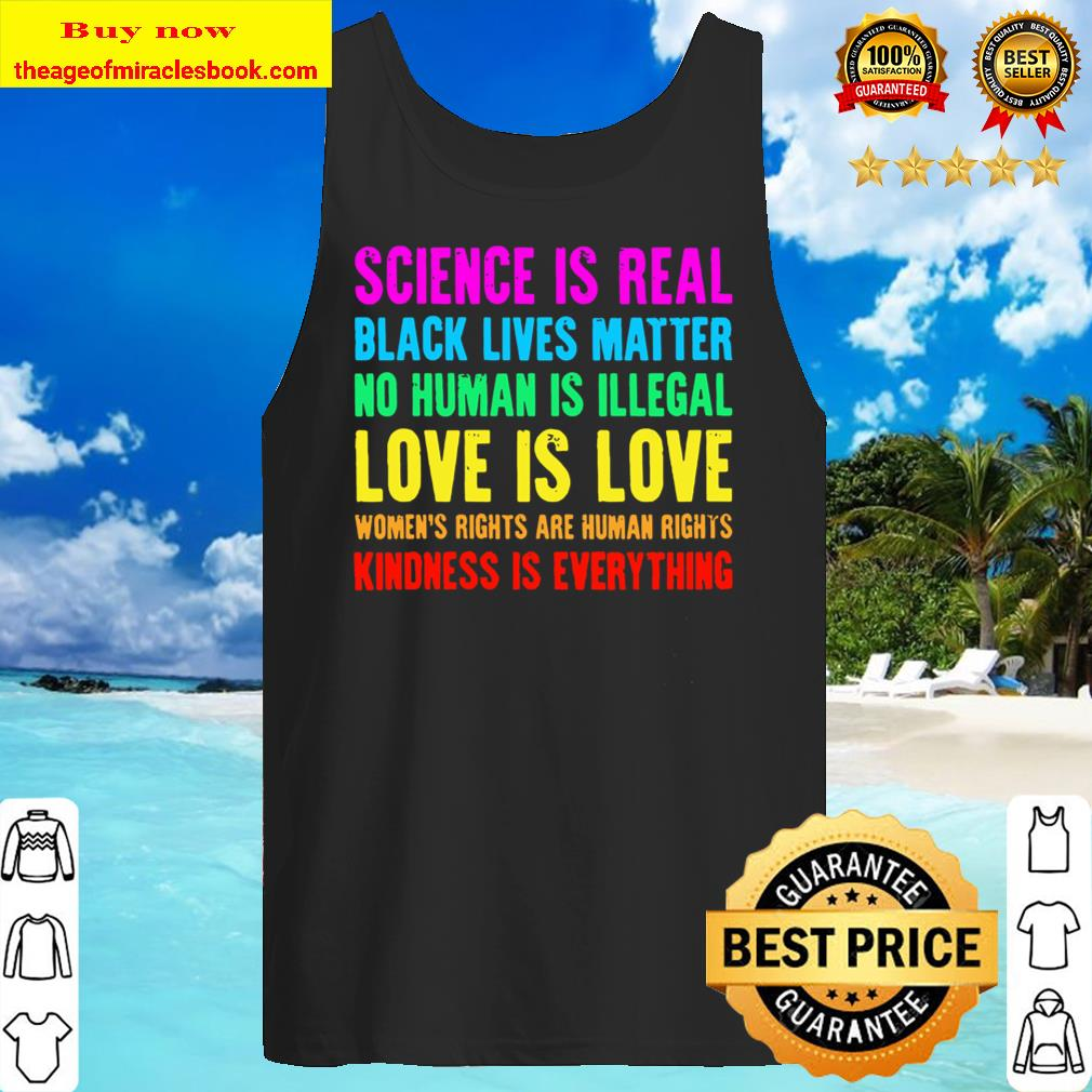 Kindness Is Everything Love Is Love Black Lives Matter Blm Tank Top