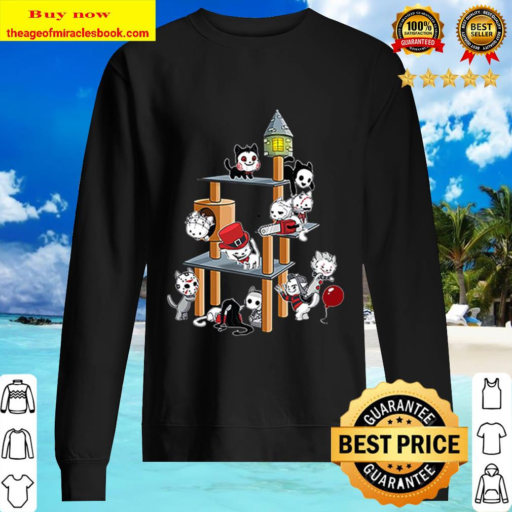 Park Cats Scariest Horror Movie Characters Halloween Sweater