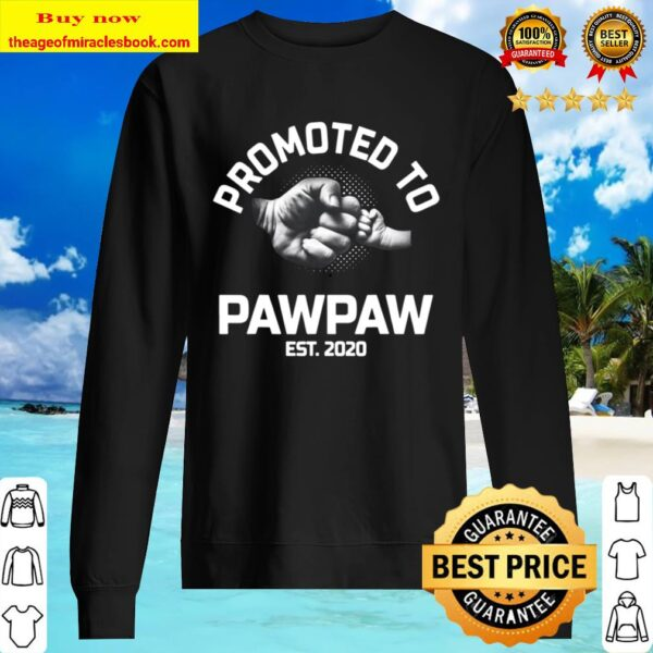 Promoted To Pawpaw Est 2020 Gift For Dad Grandpa Uncle Sweater