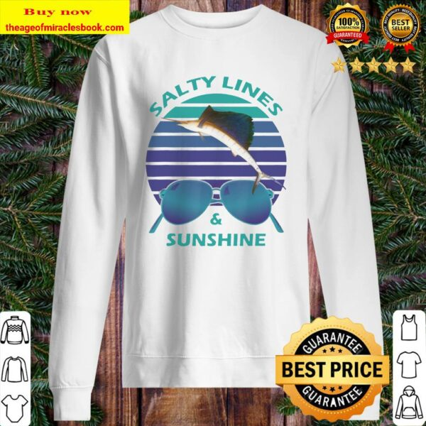 Salty Lines _ Sunshine Retro Sunset with Marlin Sweater