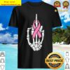 Skeleton Middle Finger Fuck Breast Cancer Awareness Shirt