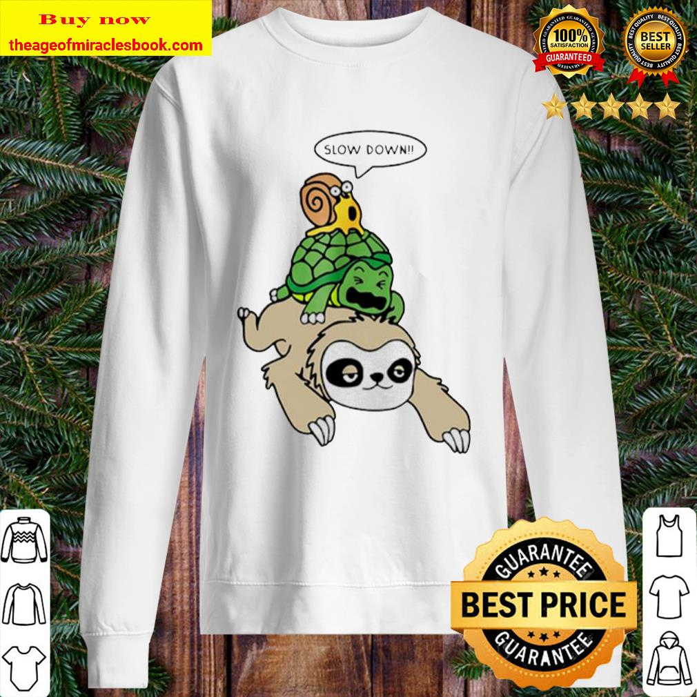 Sloth Piggyback Turtle And Snail Slow Down Sweater