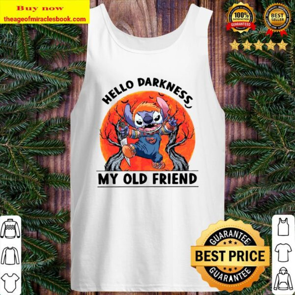 Stitch Hello Darkness My Old Friends Moon Tank Top