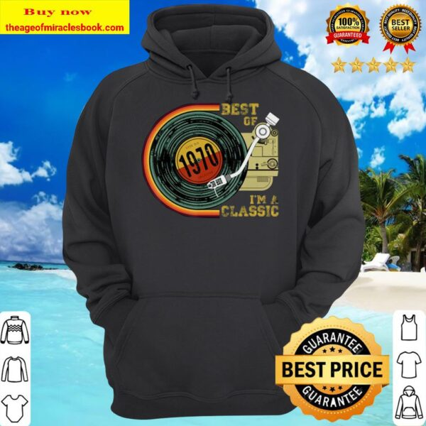 Vintage Best Of 1970 I'm Classic 50th Birthday Retro Vinyl Hoodie