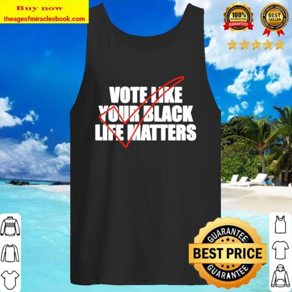 Vote Like Your Black Life Matters w Red Check Tank Top