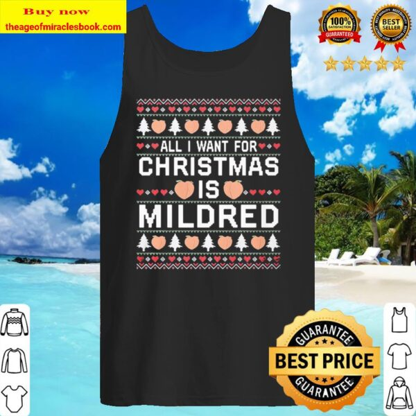 All I Want Christmas Mildred Sweat Tank Top