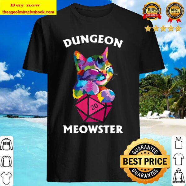 Cat Colorful Dungeon Meowster Shirt