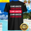 Claims Adjuster Red and White Design Shirt