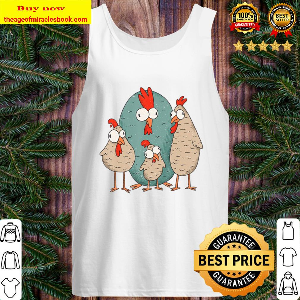 Crazy Chicken Funny Chick Rooster Tank Top