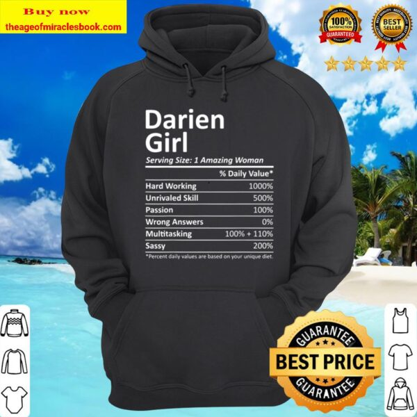 DARIEN GIRL IL ILLINOIS Funny City Home Roots USA Gift Hoodie