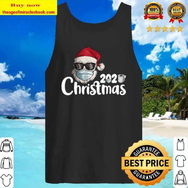 Family Matching Christmas 2020 Santa Wearing Mask Gifts Tank Top