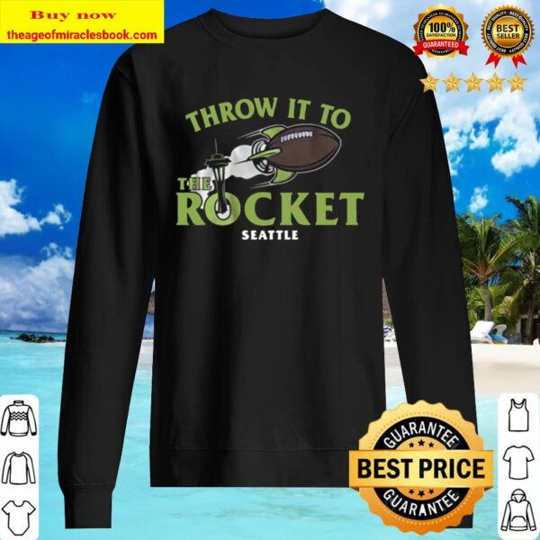 Football Throw It to the Rocket Seattle Sweater